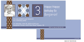 Product Image For Chocolate Polka Dots with Argyle Birthday Invitation