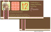 Product Image For Chocolate and Orange with Houndstooth Print Invitation