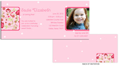 Product Image For Pink Floral Side Frame Girl Invitation