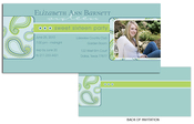 Product Image For Paisley Side Aqua Frame Invitation