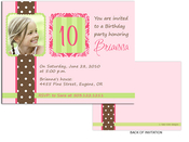 Product Image For Chocolate Polka Dots Damask & Stripes Frame Invitation