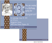 Product Image For Chocolate Polka Dots Argyle Note Size Invitation