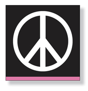 Product Image For Peace Beverage Napkin