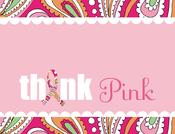 Product Image For Think Pink Note Card