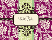 Product Image For Violet Note Card