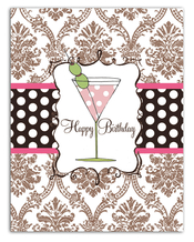 Product Image For Pink Cosmo Note Card