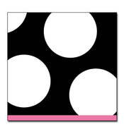Product Image For Spots Black Small Beverage Napkin
