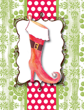 Product Image For Holiday Boots Note Card