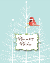 Product Image For Santa Cardinal Note Card