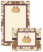 Product Image For Leopard Purse Stationery Set