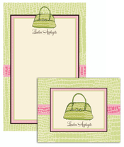 Product Image For Alligator Purse Stationery Set