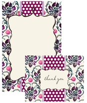 Product Image For Violet Stationery Set