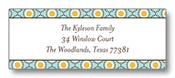 Product Image For Fun Circles Blue Return Address Label