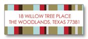 Product Image For Striped Out Brown  Return Address Label