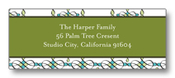 Product Image For Deco Holiday Green Return Address Label