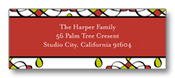 Product Image For Deco Holiday Red Return Address Label
