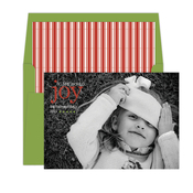 Product Image For Holiday Striped Folded Digital Photo Card
