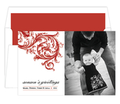 Product Image For Baroque Red Digital Photo Card