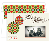 Product Image For Festive Ornaments Green and Red Digital Photo Card