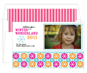 Product Image For Winter Wonderland  pink and Blue Digital Photo Card