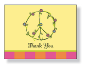 Product Image For Peace flowers Notecard