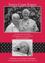 Product Image For Banded Polka Dot Red and Black Digital Photo Card