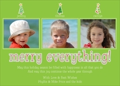 Product Image For Holiday Family Tree Lime Digital Photo Card
