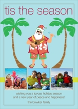 Product Image For Tropical Santa Digital Photo Card
