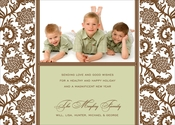 Product Image For Woodcut -Brown and Sage Digital Photo Card