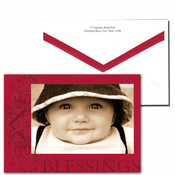Product Image For Red Blessings Folded Photo card