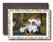 Product Image For Embossed Snowflakes Photo Card