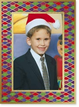 Product Image For Holiday Harlequin Photo Card