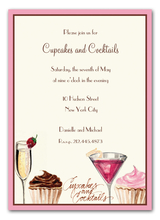 Product Image For Cupcakes and Cocktails Invitation (WHITE)
