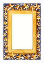 Product Image For Gold Stars on Blue with Gems Photo Card