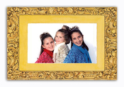 Product Image For Gold Elegant Scalloped Photo Card