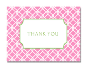 Product Image For Pink Weave Notecard