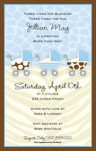 Product Image For Baby Boy Buggies Digital Invitation