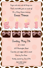 Product Image For Cupcakes Girl Digital Invitation