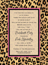 Product Image For Lovely Leopard Digital Invitation
