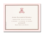 Product Image For Teddy Bear Girl Petite Invitation