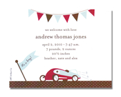 Product Image For Race Car Petite Invitation