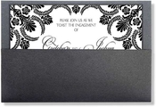 Product Image For Black and white Elegant Pocket Formal Invitation