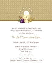 Product Image For Gold Mini Dots Communion Invitation