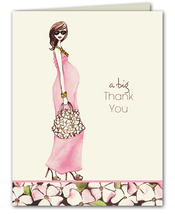 Product Image For Fashionable Mom - Pink Note Card