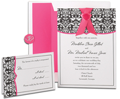 Product Image For Classic Damask with Fuchsia