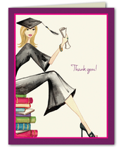 Product Image For Grad on Books Note Card
