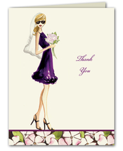 Product Image For Floral Bride Note Card