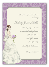 Product Image For Vintage Bride Invitation