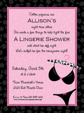 Product Image For Pretty Black Lingerie Digital Invitation