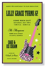 Product Image For Wild Guitar Invitation